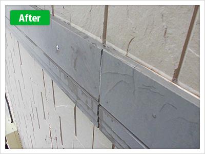 練馬区谷原外壁塗装幕板の修繕の施工前、全体の写真です